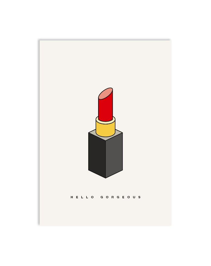 Postkarte lipstick