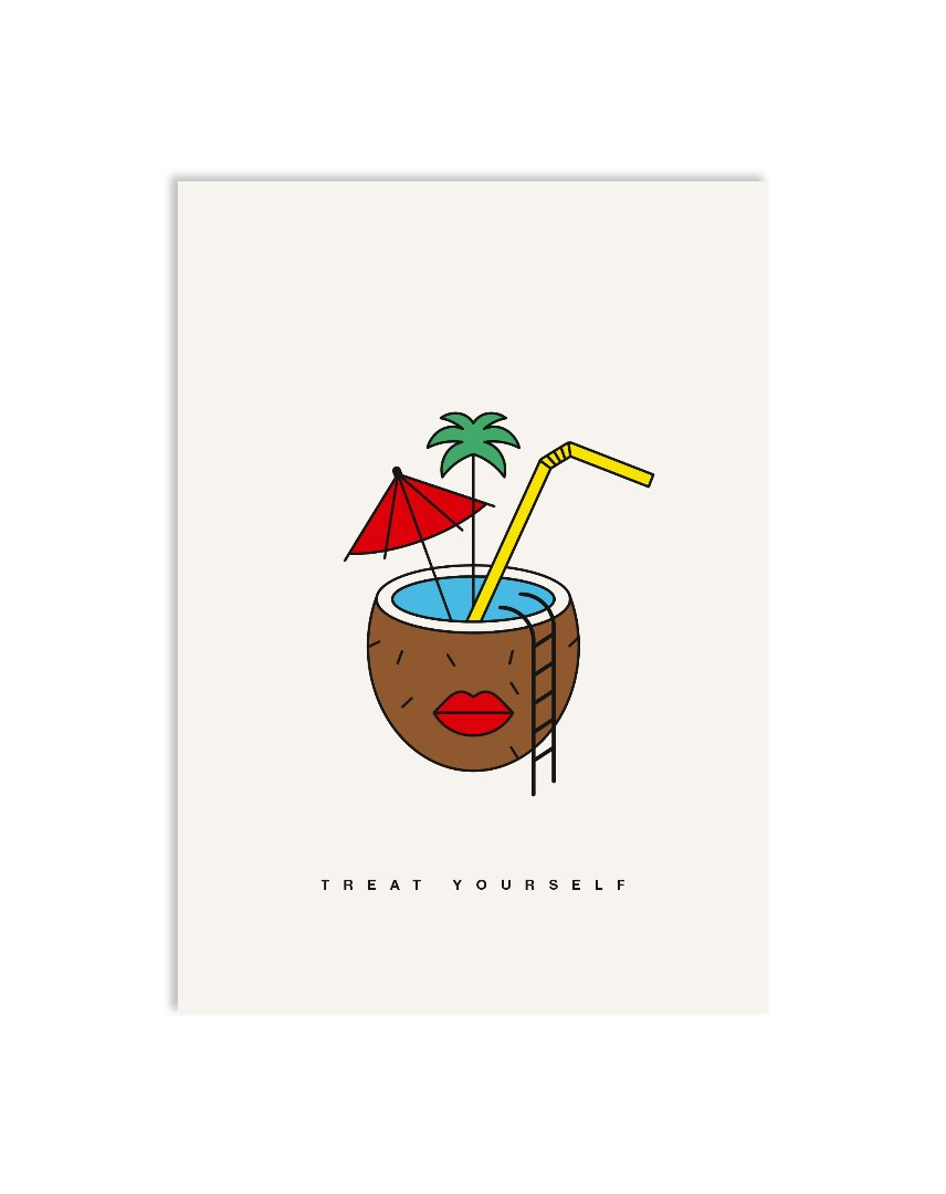 Postkarte coconut dreams