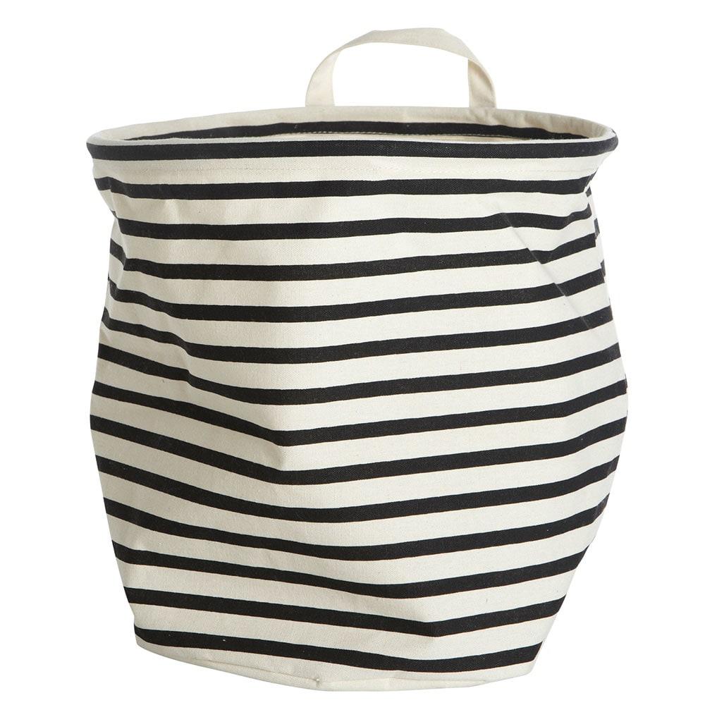 Stripes Korb Schwarz/Weiß