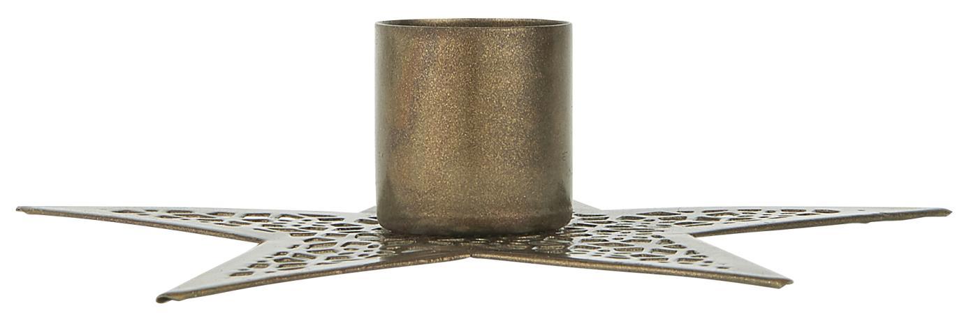 kleiner Kerzenhalter Stern aus Metall