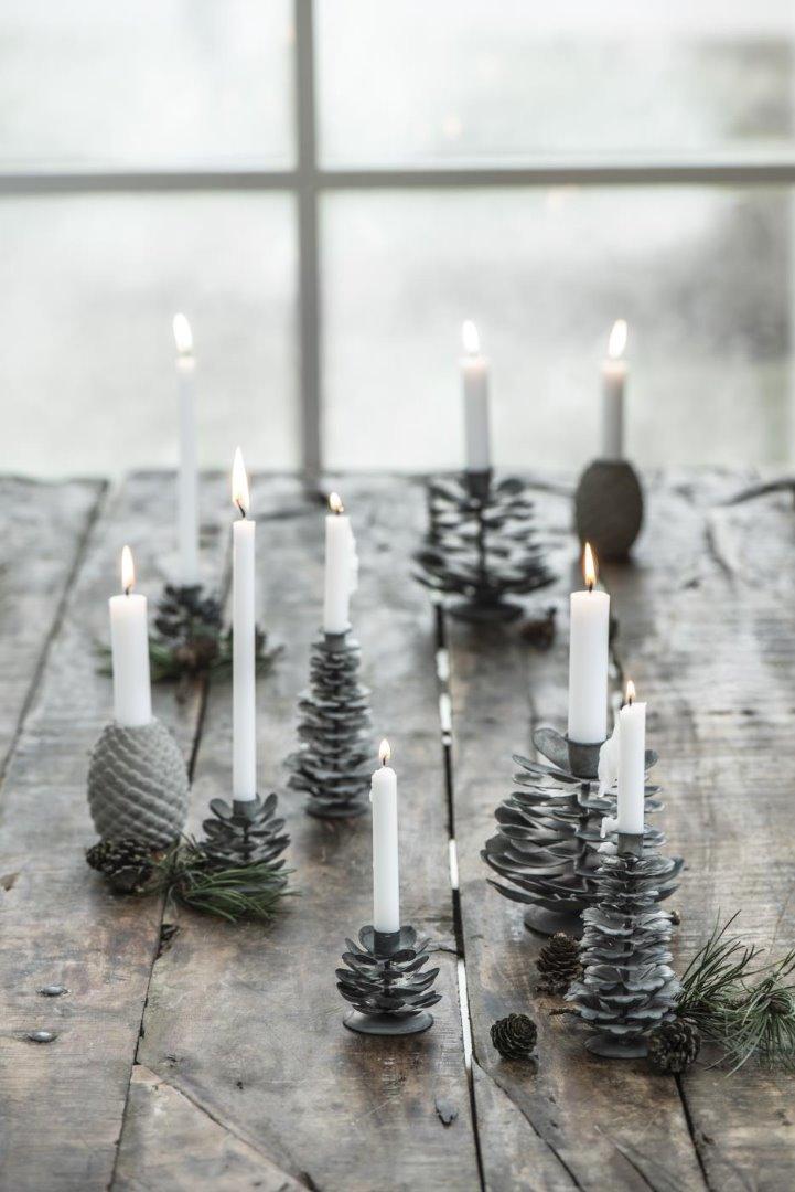 Kerzenhalter Zapfen aus Beton 5