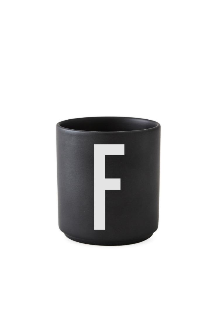 schwarzer Porzellanbecher F