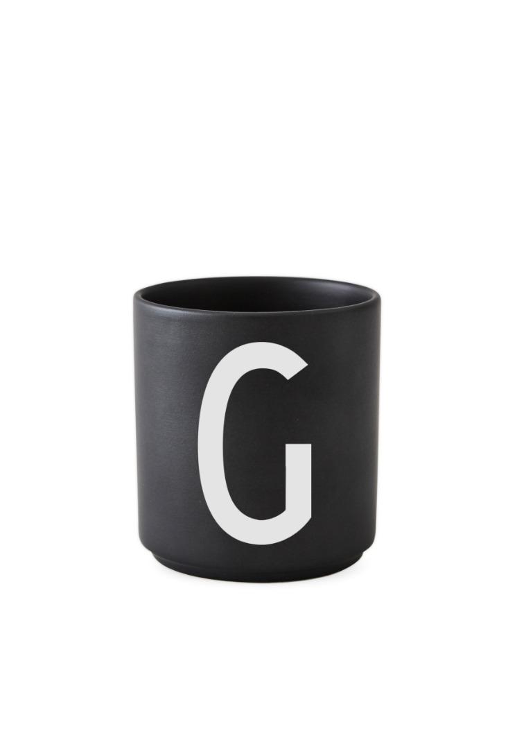 schwarzer Porzellanbecher G