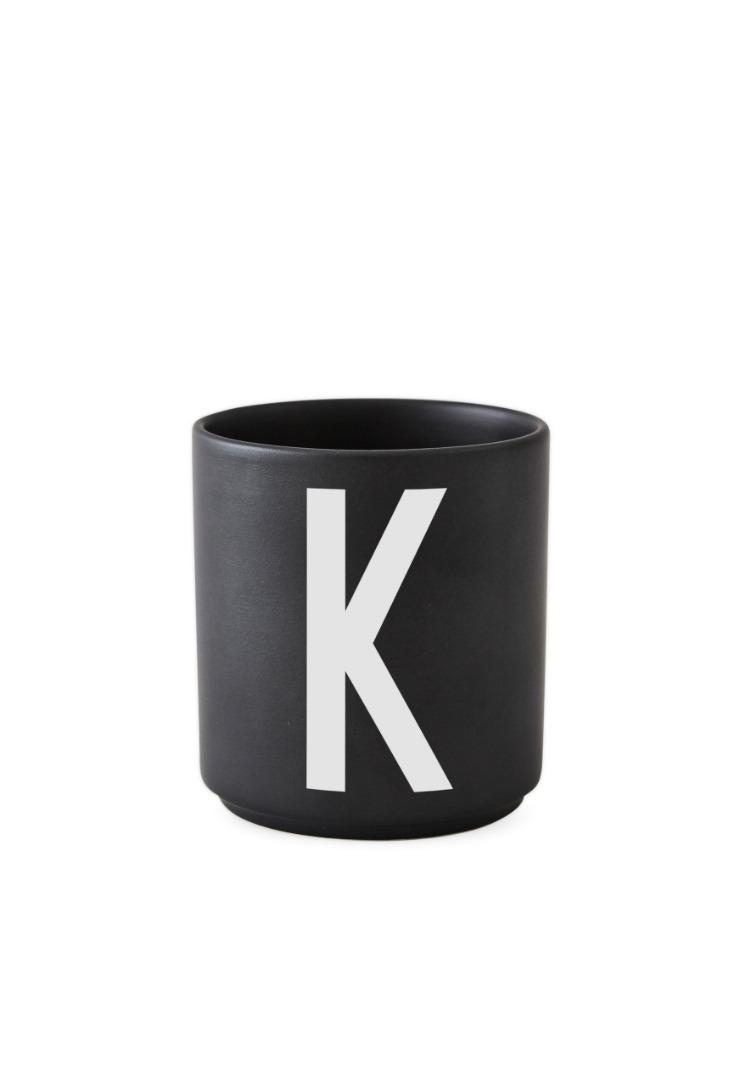 schwarzer Porzellanbecher K