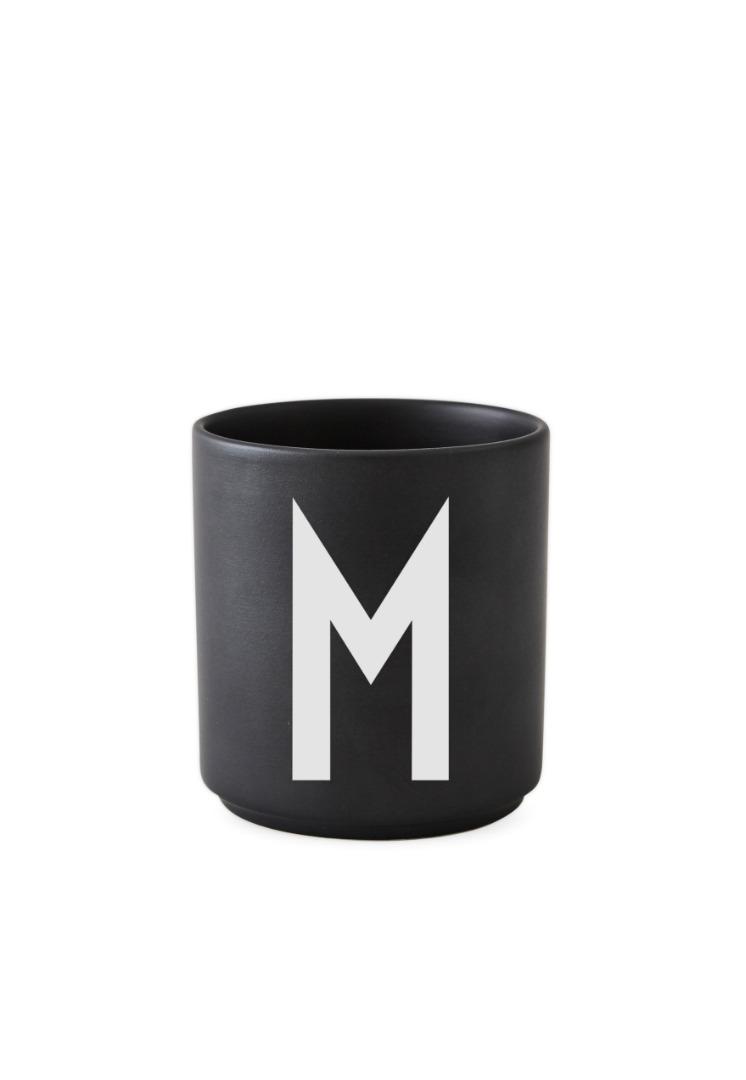 schwarzer Porzellanbecher M
