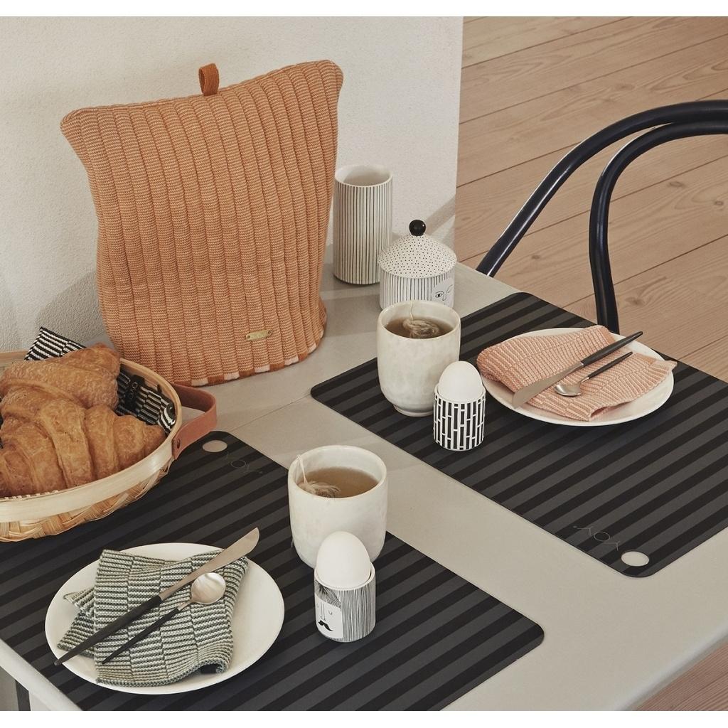 Wischtücher Mini-Handtücher stringa 2er Set karamell/minze
