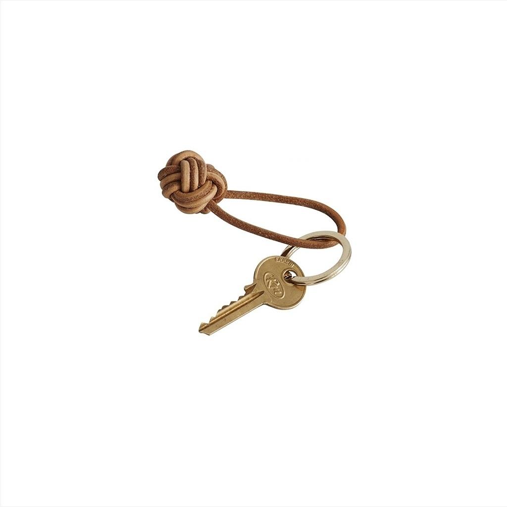 Schlüsselanhänger knot / braunes Leder