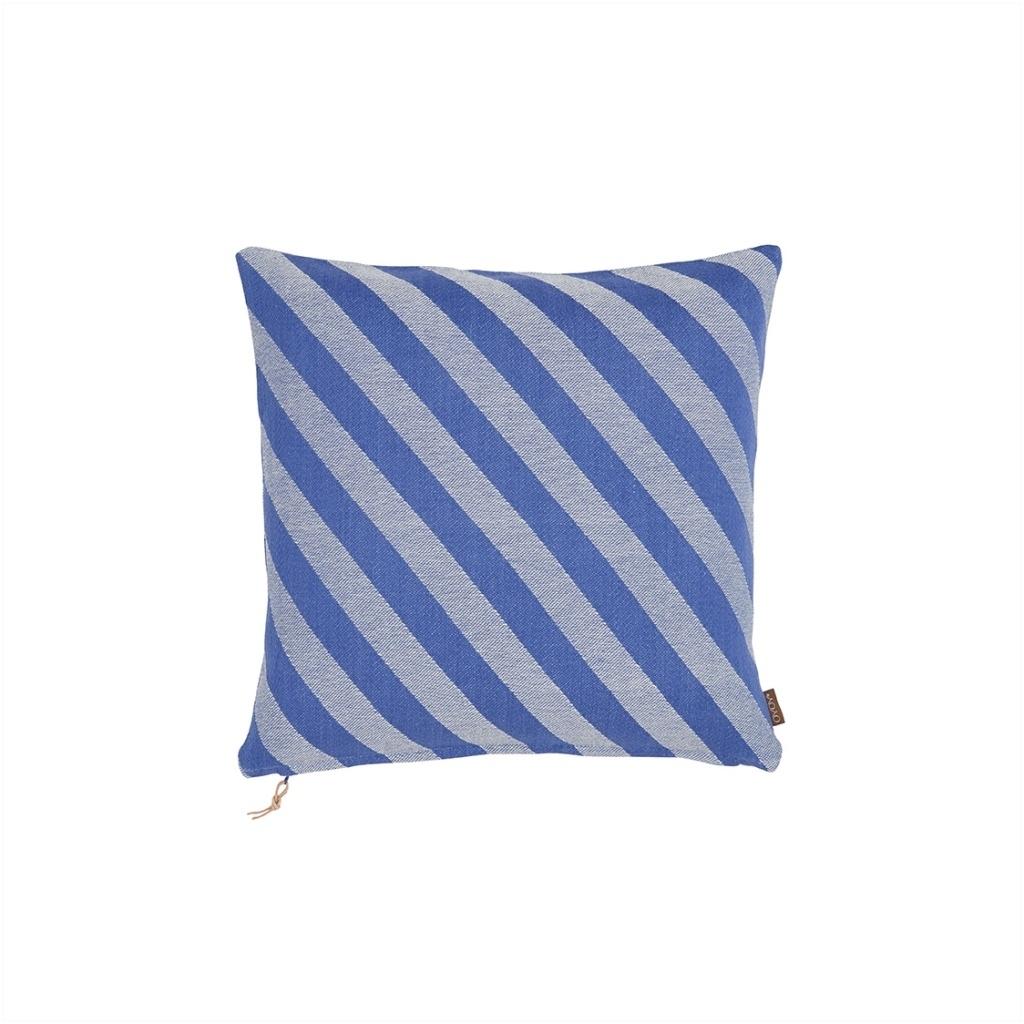 Kissen fluffy blau gestreift inkl Füllung