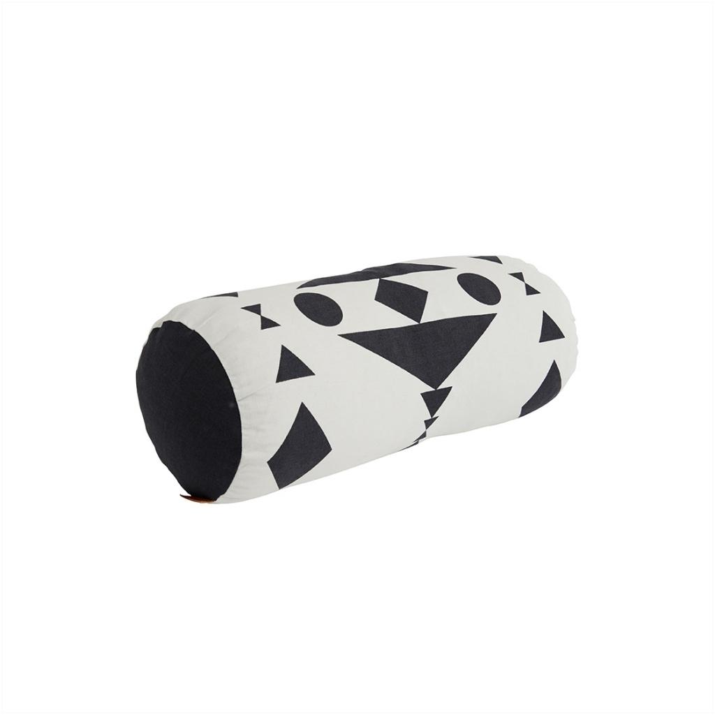 Kissen cylinder weiß/schwarz inkl Füllung