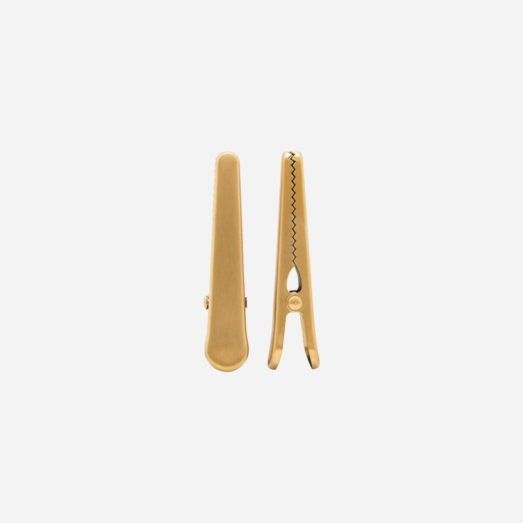 2er Set Clips / gold