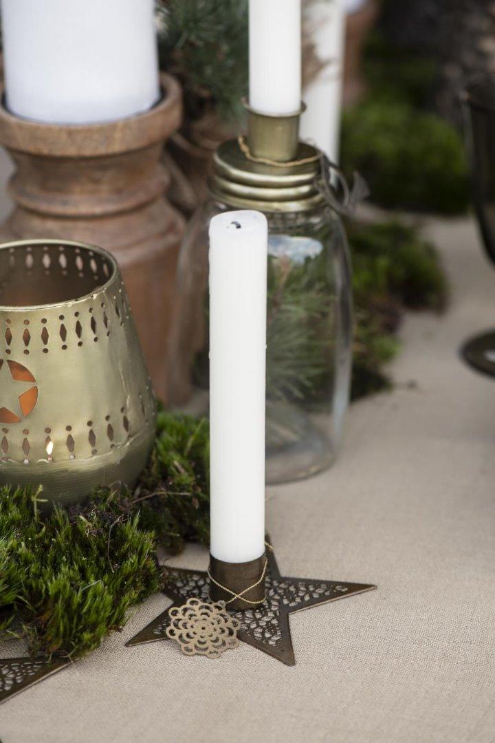 kleiner Kerzenhalter Stern aus Metall 2