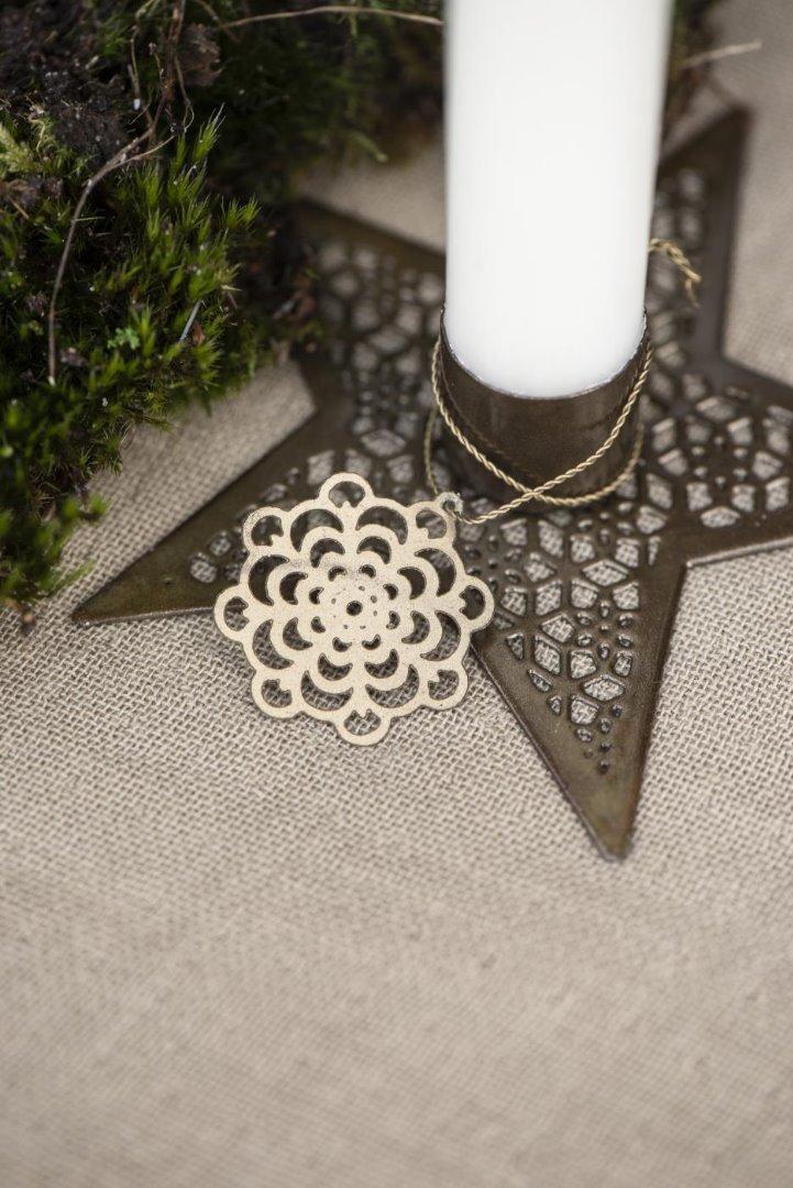 kleiner Kerzenhalter Stern aus Metall 3