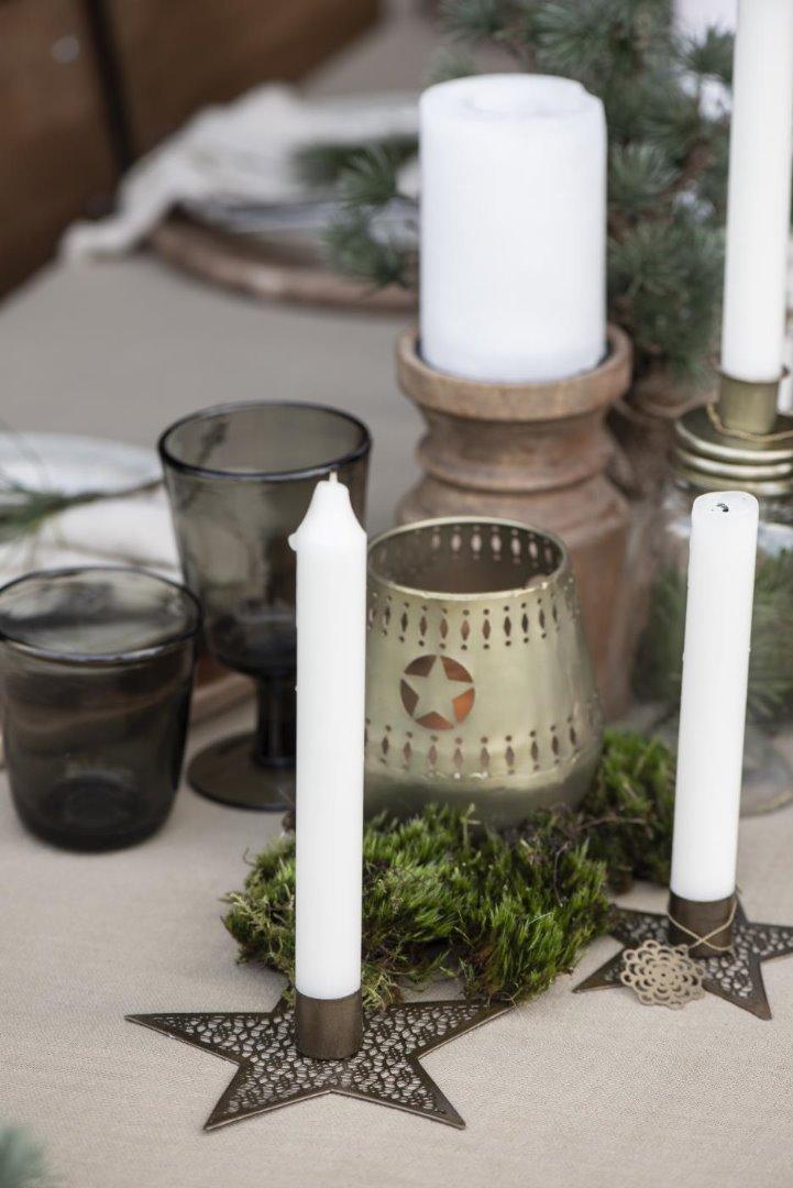 kleiner Kerzenhalter Stern aus Metall 4