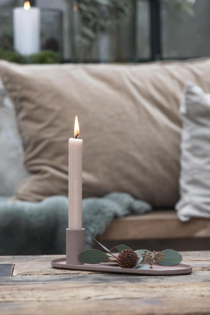 Kerzenhalter für Stabkerzen in malva 2