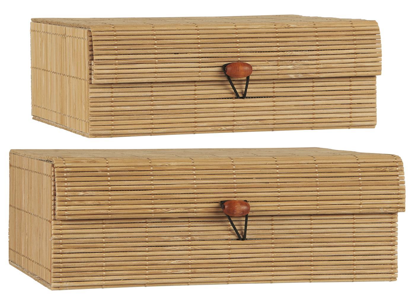 2er Set Bambusschachteln