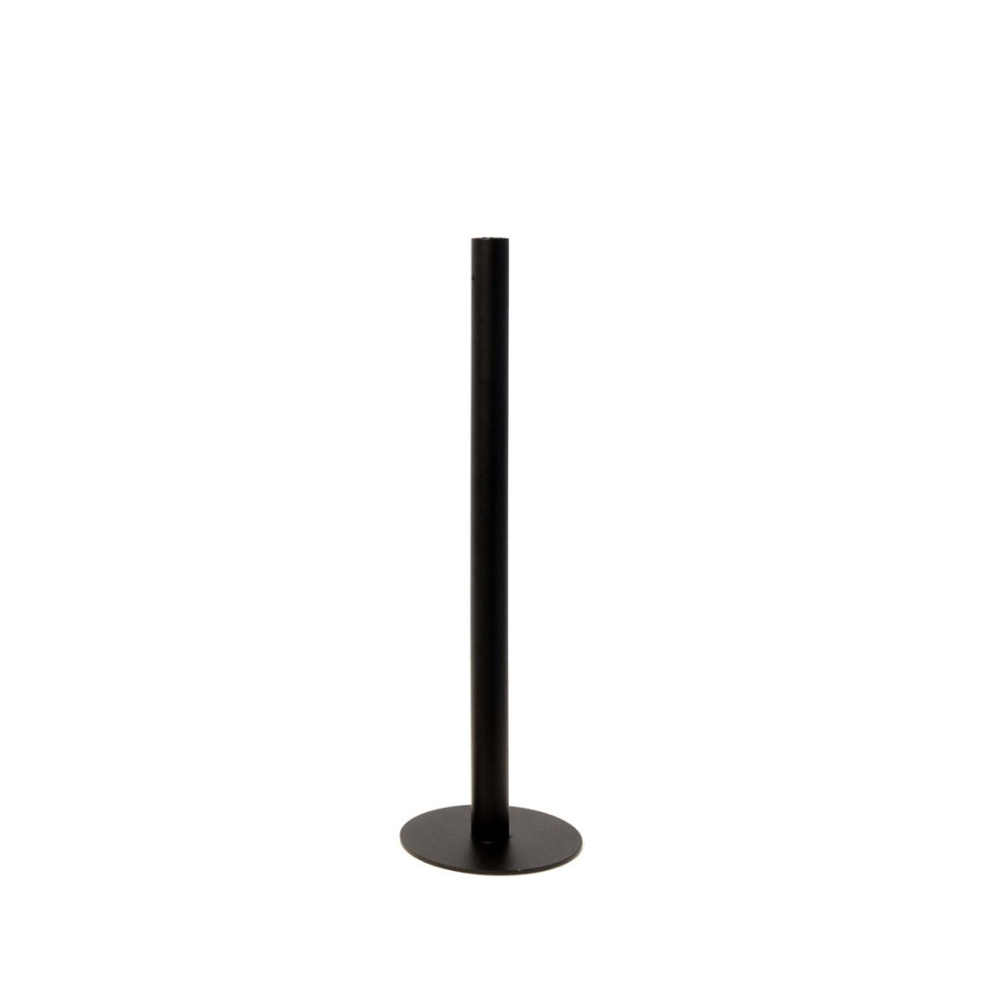 Metallbodenkerzenhalter klein / schwarz 3