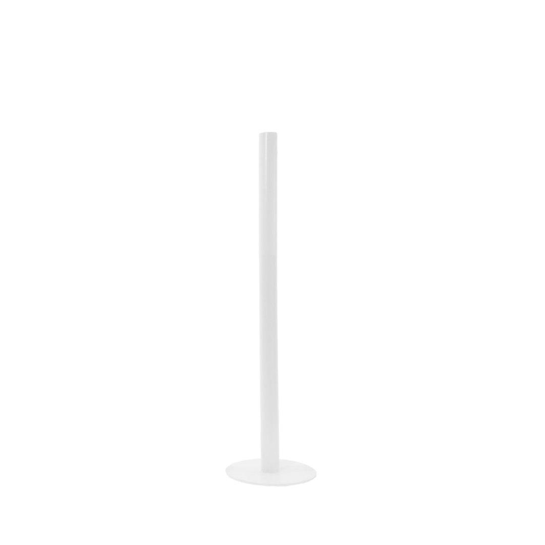 Metallbodenkerzenhalter klein / weiß 2