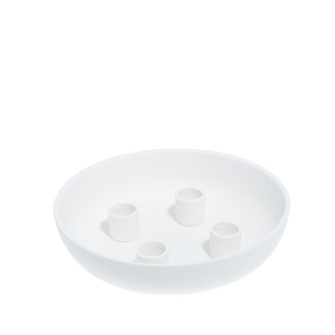 Granholmen Tischkerzenhalter weiß