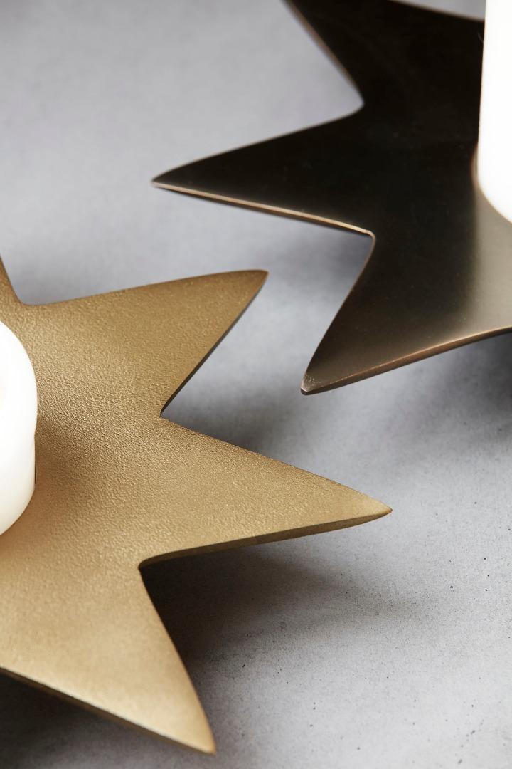 Kerzenständer Star Gold 2
