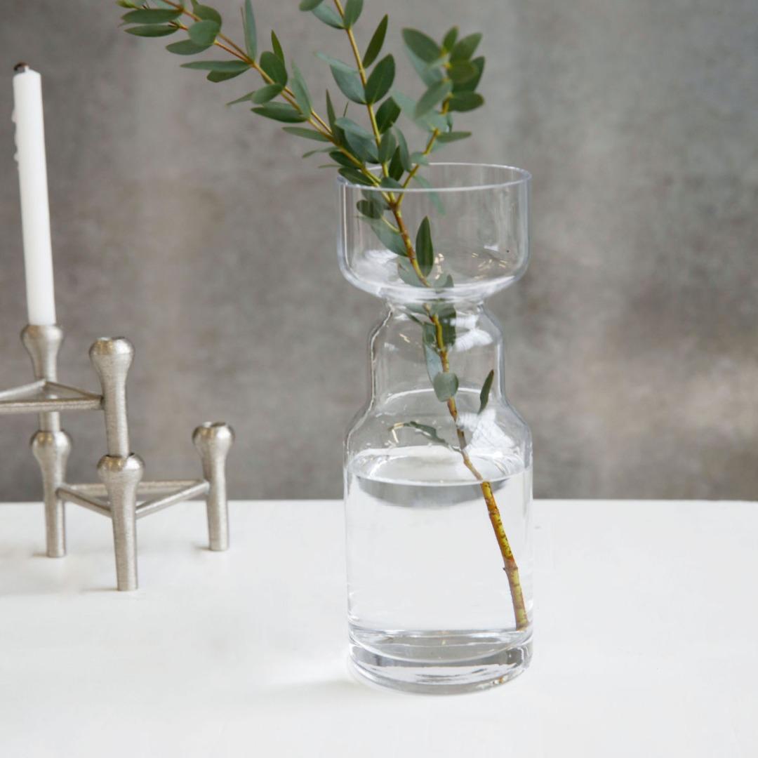 Stk Vase CINTH aus Glas klar