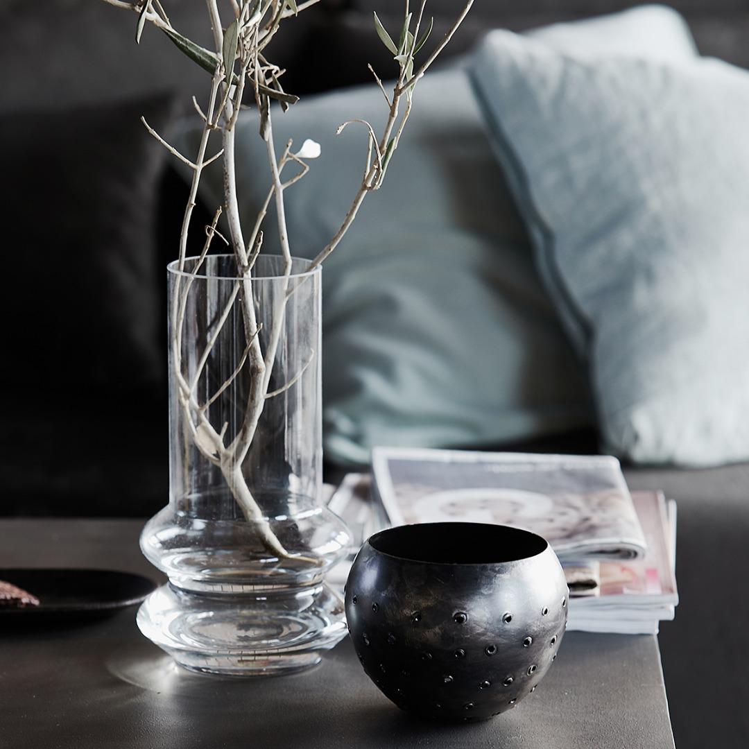 Vase FORMS aus Klarglas 2