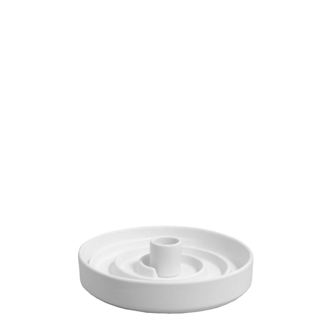 Stk weißer Kerzenhalter Sundhult matt/ aus