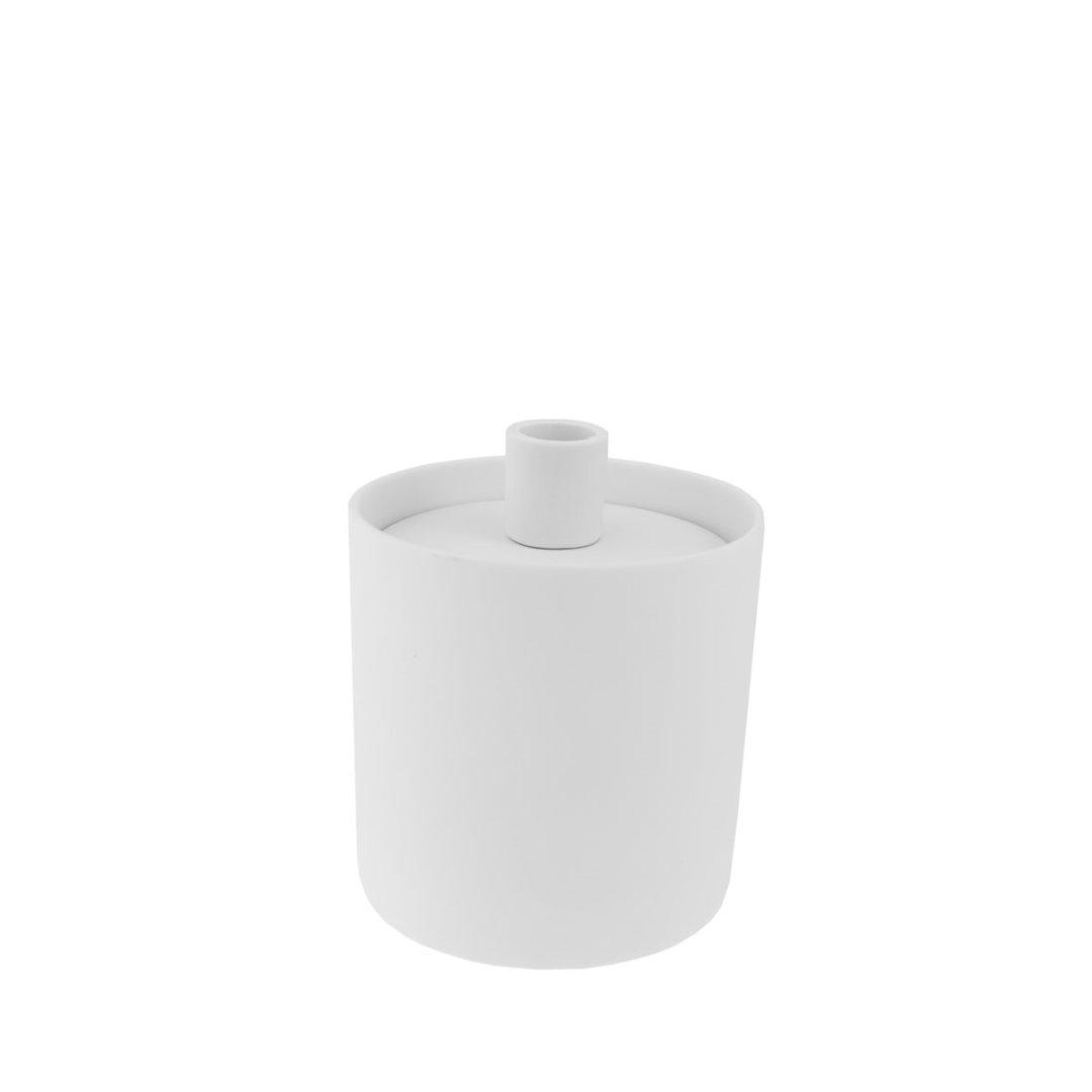 Aufbewahrungsdose mit Kerzenhalter weiß 2