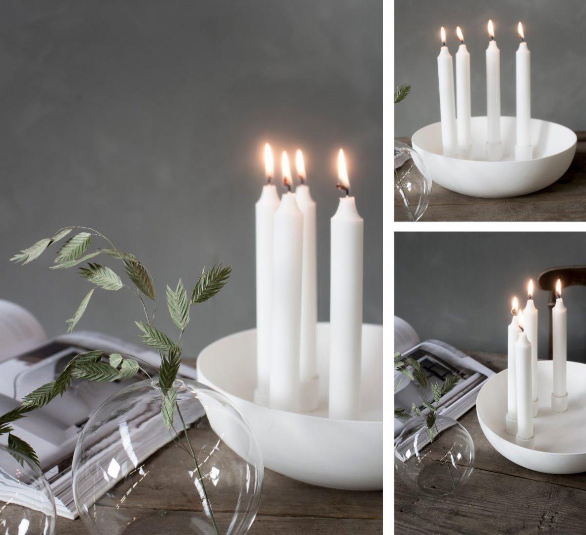 Kvistbro Kerzenhalter matt/weiß 3