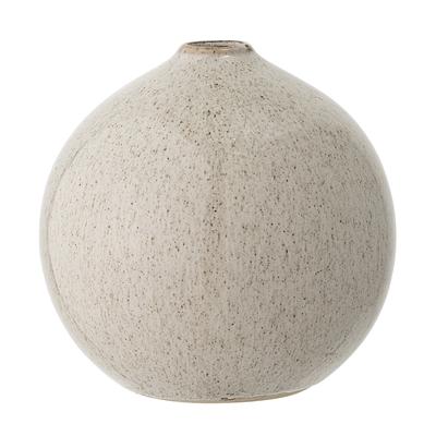 Vase Steinzeug rund gesprenkelt H12