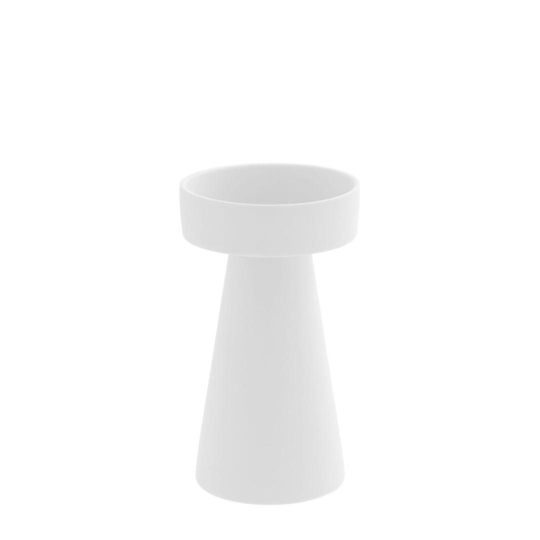 großer Kerzenhalter matt/weiß aus Keramik 2