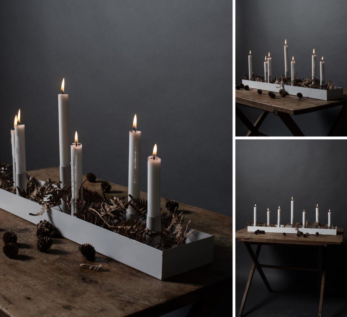 Kerzenhalter SUND weiß 80cm