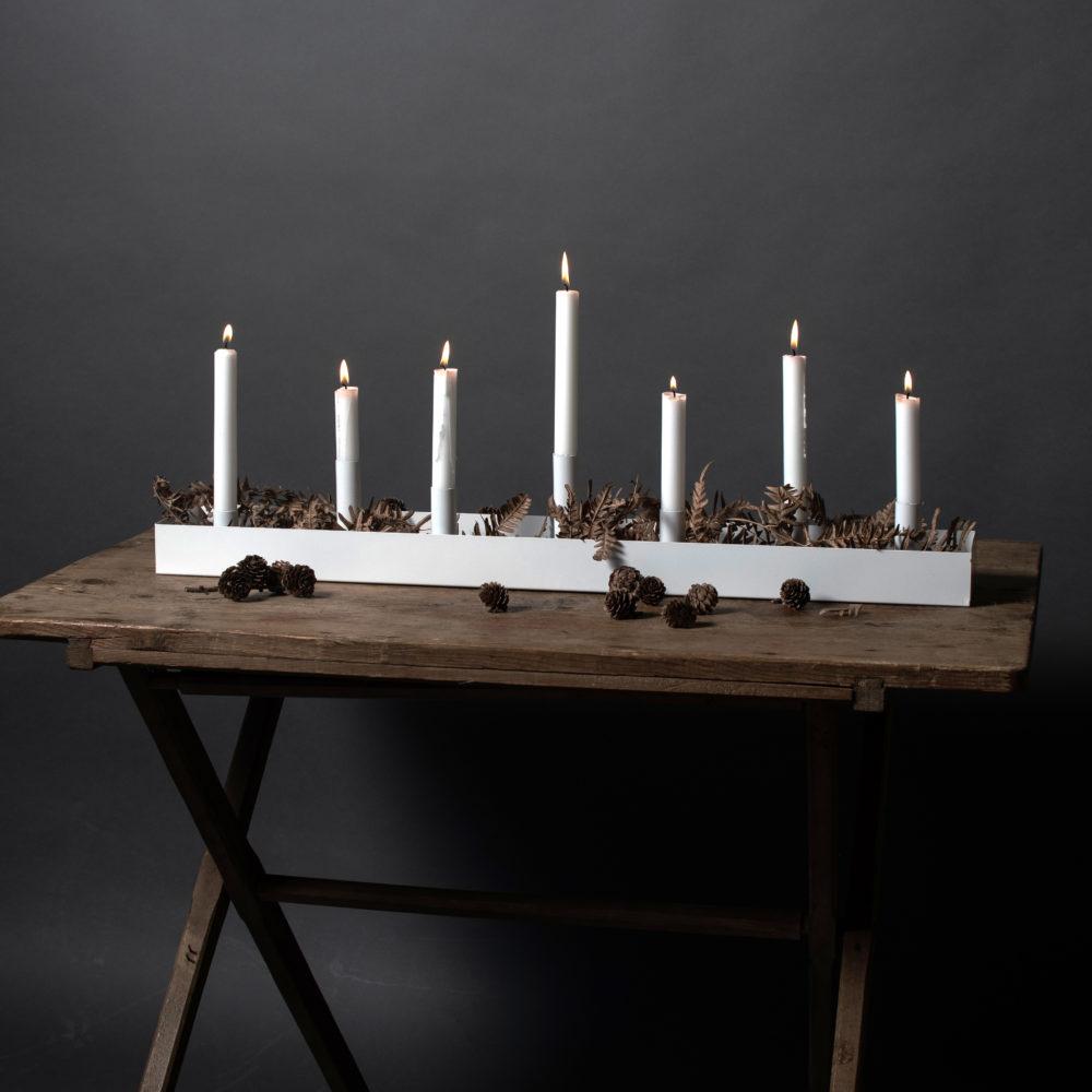 Kerzenhalter SUND weiß 80cm 2