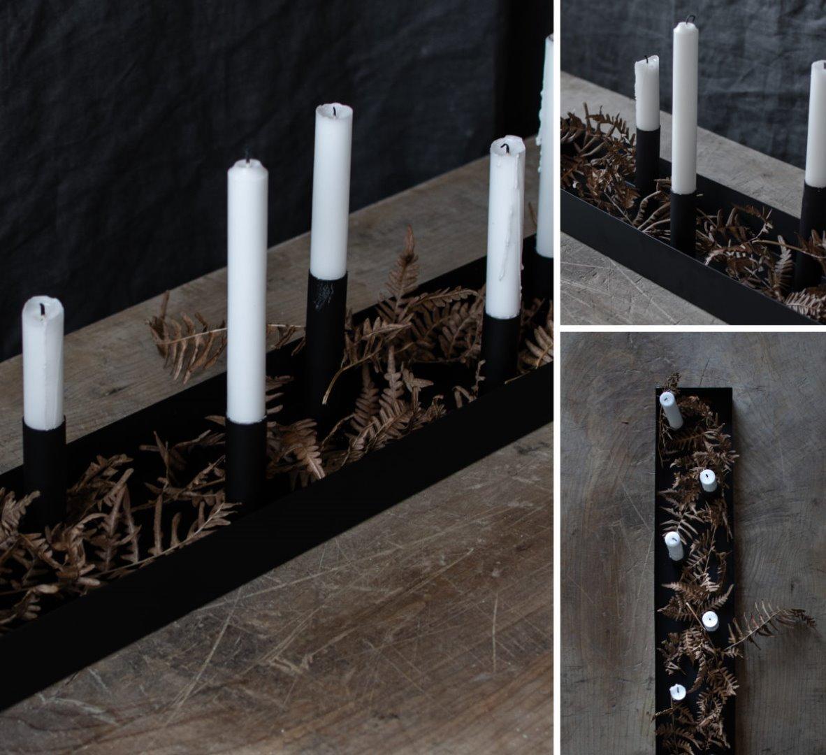 Kerzenhalter SUND schwarz 80cm