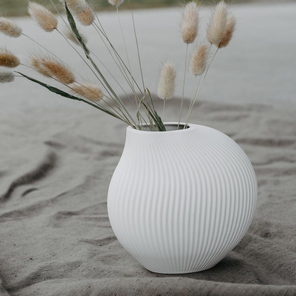 Lerbäck Keramikvase weiß