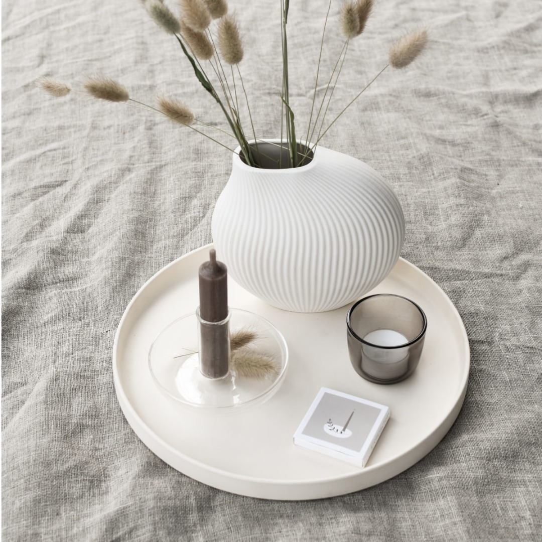 Lerbäck Keramikvase weiß 3