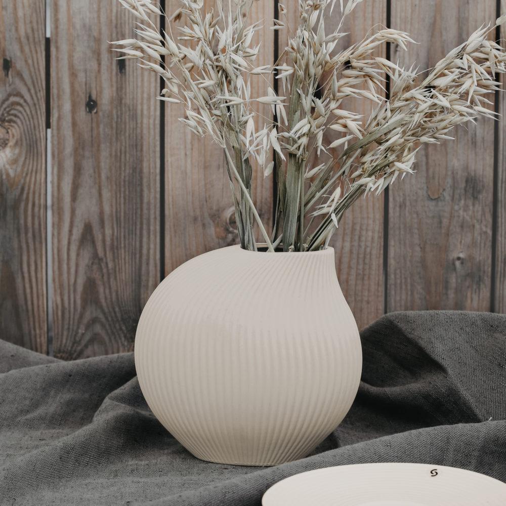 Lerbäck Keramikvase beige 2