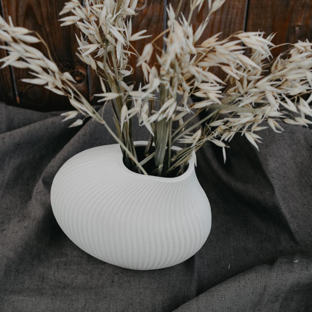 Lerbäck Keramikvase beige 3