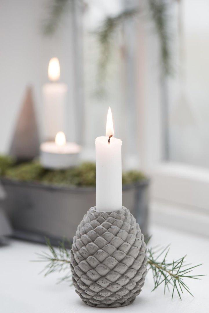 Kerzenhalter Zapfen aus Beton