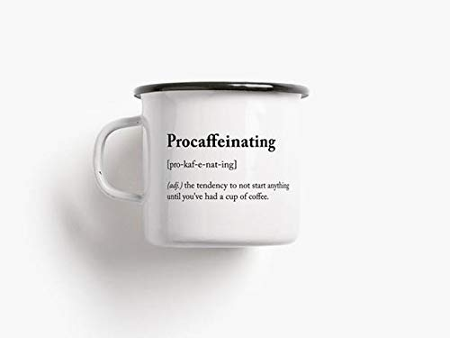 Emaille Becher procaffeinating