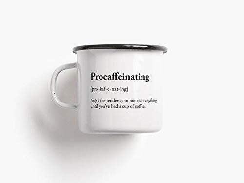 Emaille Becher procaffeinating - 1