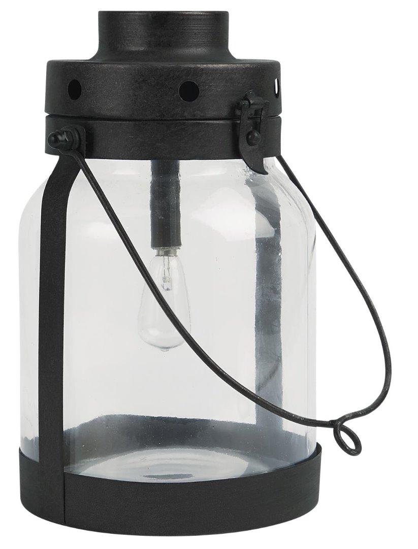 LED Laterne mit Metallboden klein