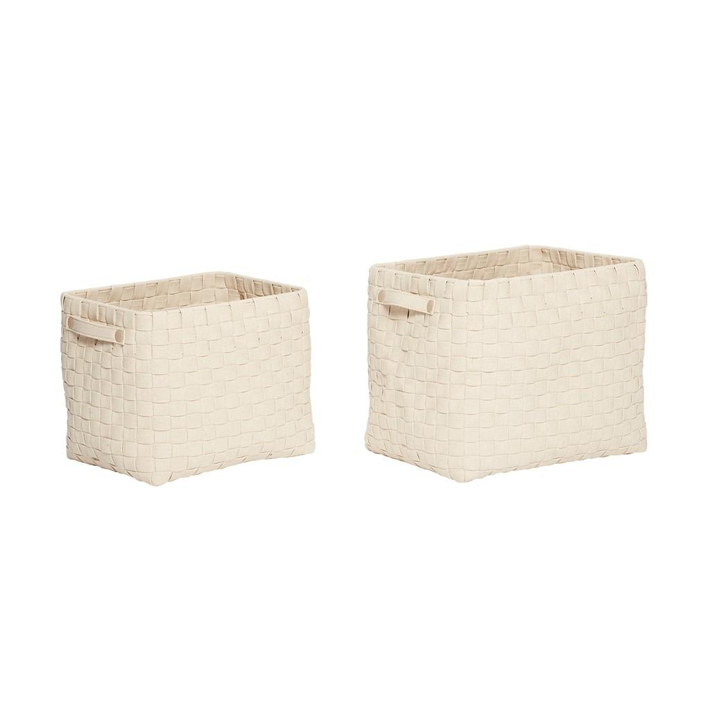 Korb geflochten Baumwolle natur 2er Set