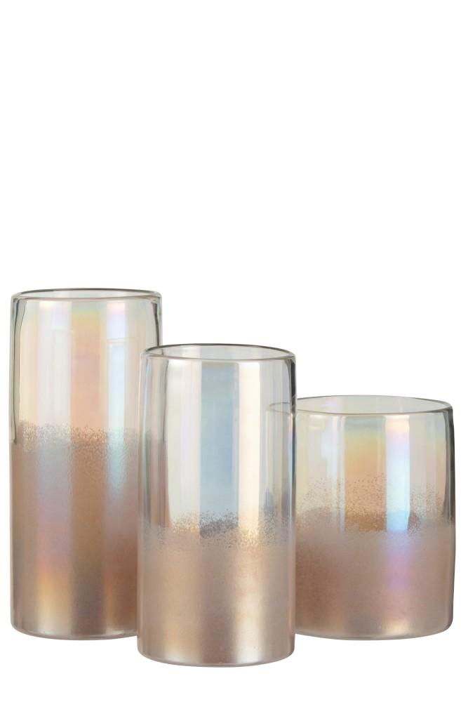 hohe Vase aus dickem Glas medium