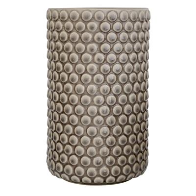Vase grau Steinzeug H21cm