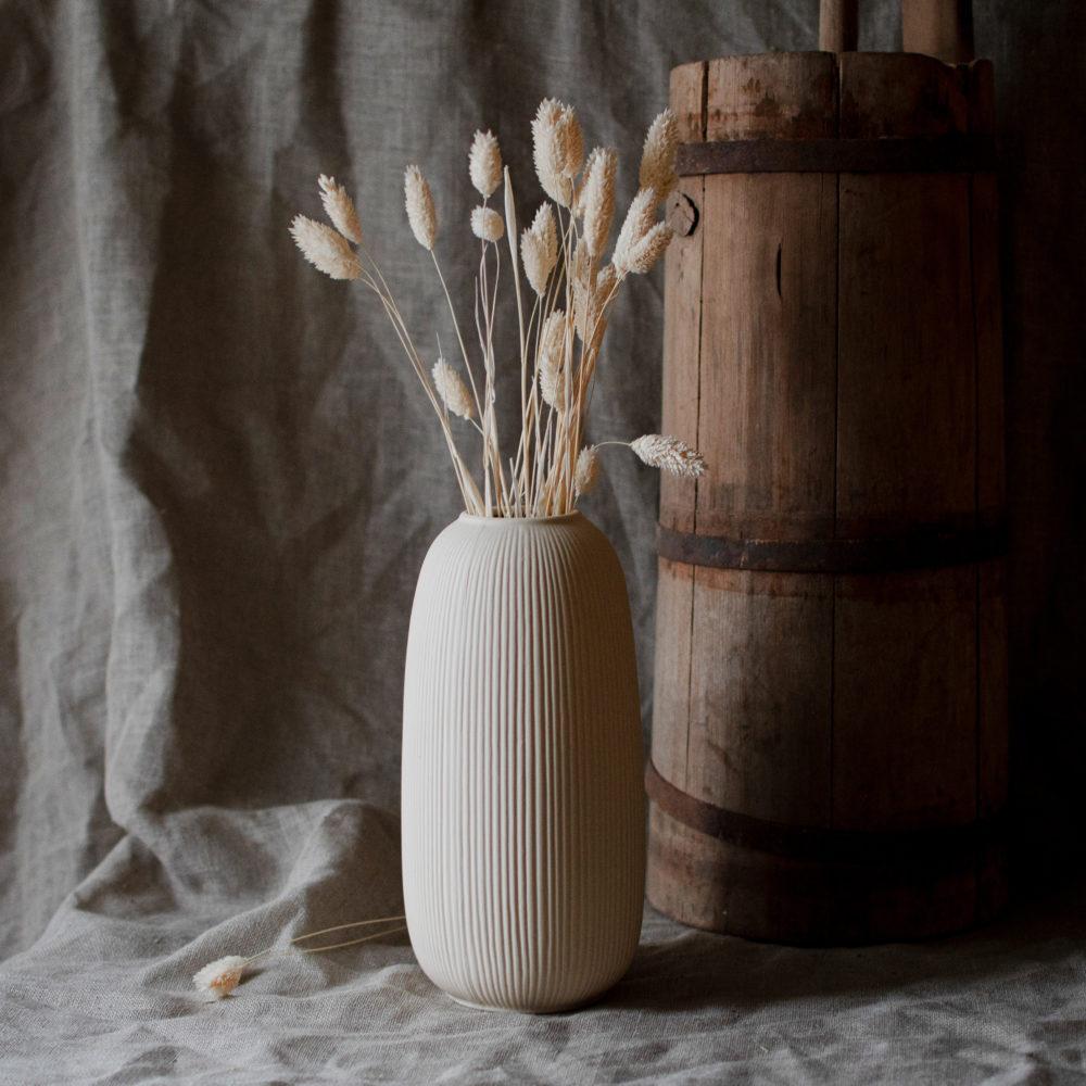 Aby Keramikvase beige 2