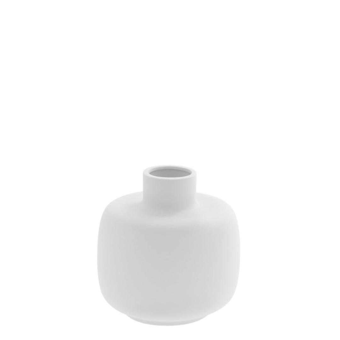 bauchige Vase weiß