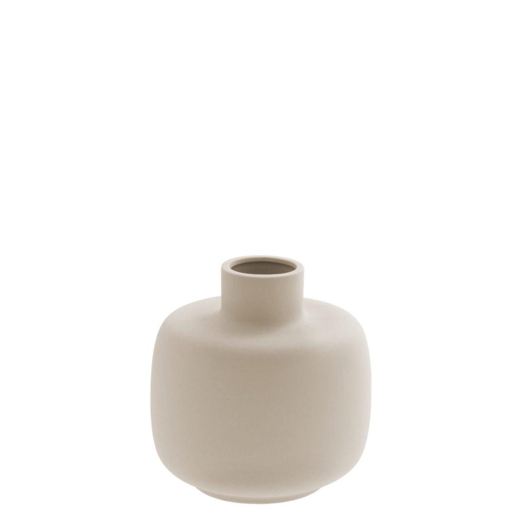 bauchige Vase beige 2