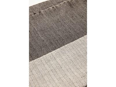 Hübsch Decke Baumwolle schwarz/cremeweiß 2