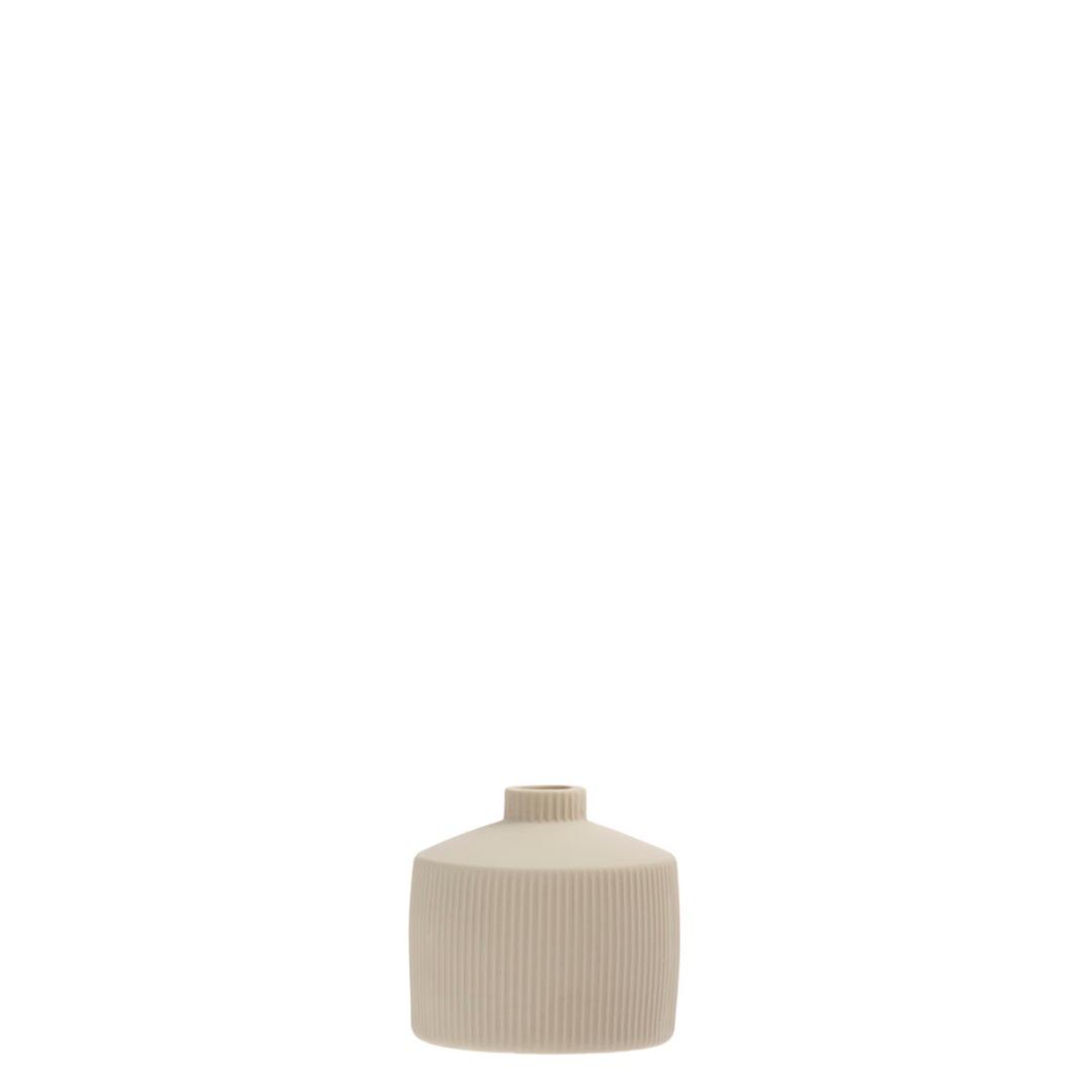 Berga Keramikvase beige klein