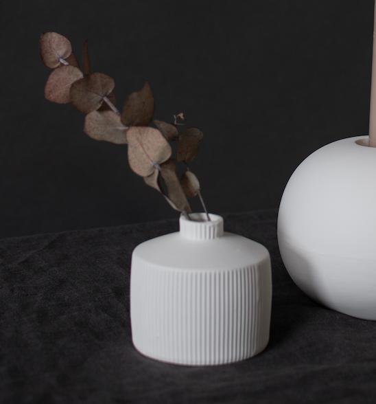 Berga Keramikvase weiß klein
